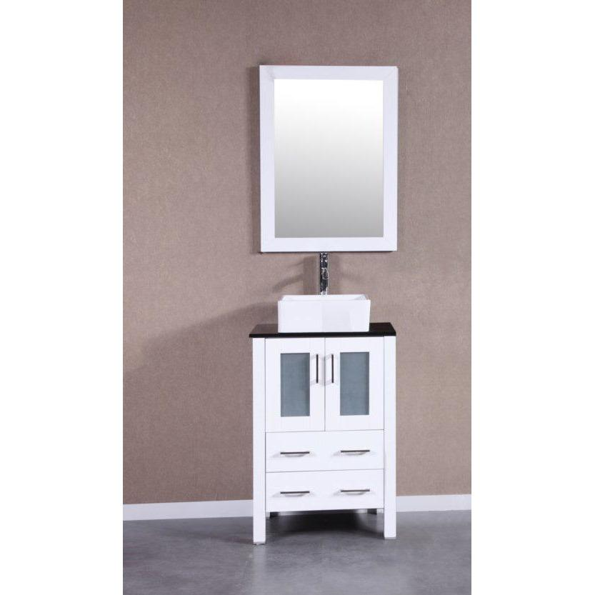 "Bosconi 24"" Single Vanity Bathroom Vanity AW124CBEBG"
