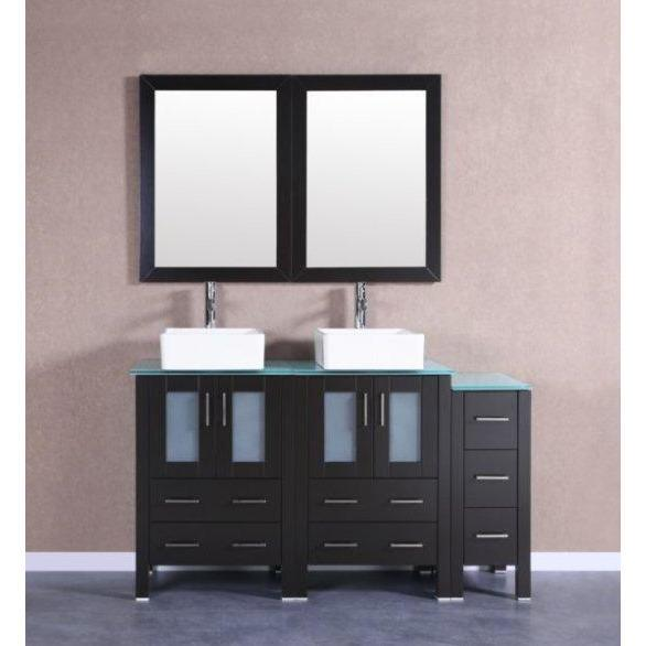 "Bosconi 60"" Double Vanity Bathroom Vanity AB224CBECWG1S"