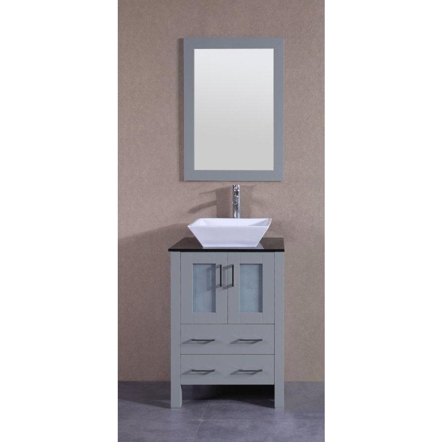 "Bosconi 24"" Single Vanity Bathroom Vanity AGR124SQBG"