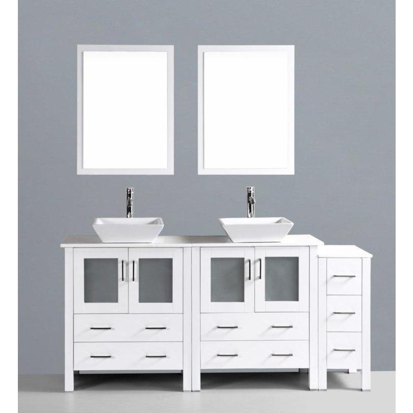 "Bosconi 72"" Double Vanity Bathroom Vanity AW230S1S"