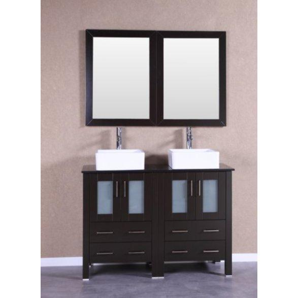 "Bosconi 48"" Double Vanity Bathroom Vanity AB224CBEBG"