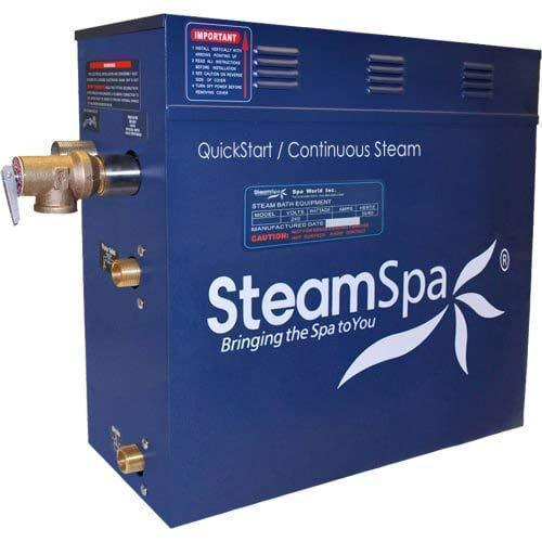 Steam Spa Steam Generators No SteamSpa QuickStart Indulgence 9 KW Acu-Steam Bath Generator INT900CH