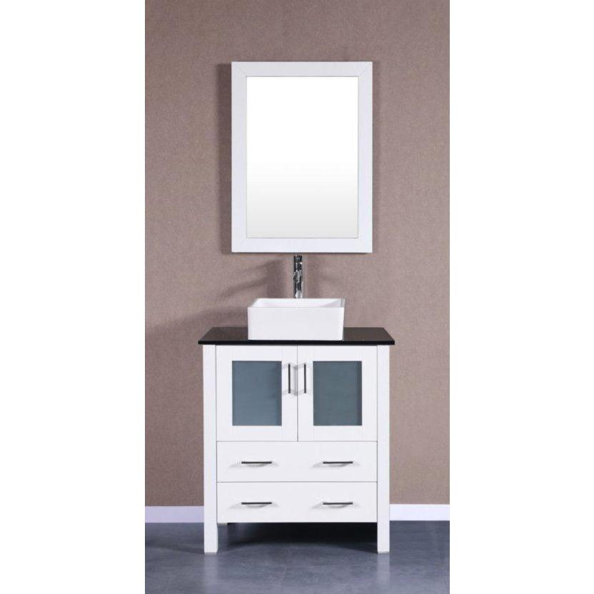 "Bosconi 30"" Single Vanity Bathroom Vanity AW130CBEBG"