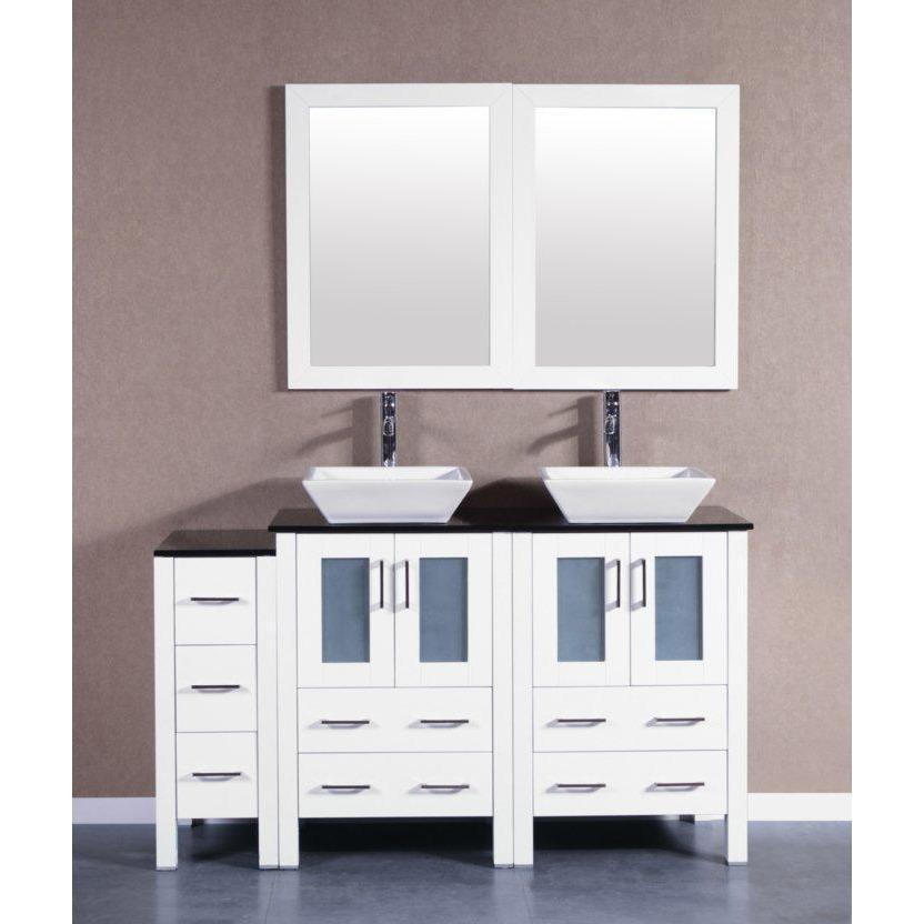 "Bosconi 60"" Double Vanity Bathroom Vanity AW224SQBG1S"