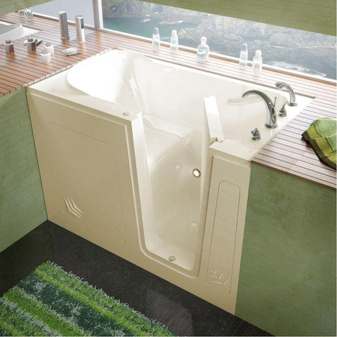 Meditub Walk-In Right Drain Biscuit Soaking Bathtub 3054RBS