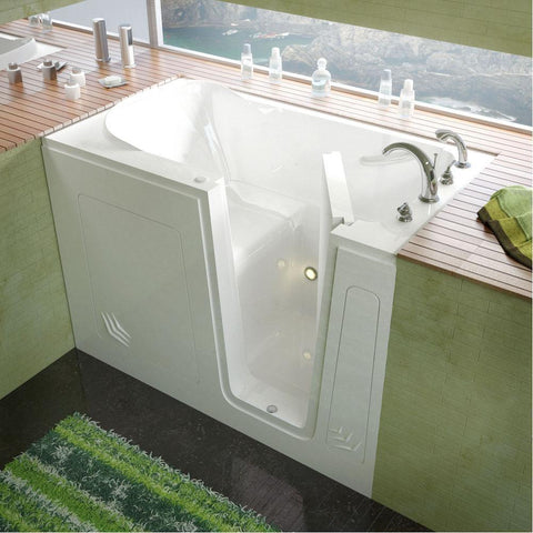 Meditub Walk-In Right Drain White Soaking Bathtub 3054RWS