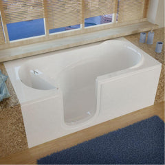 Meditub Step-In Left Drain White Soaking Bathtub 3060SILWS