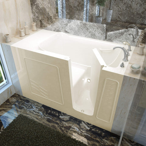 Meditub Walk-In Right Drain Biscuit Soaking Bathtub 3060WIRBS