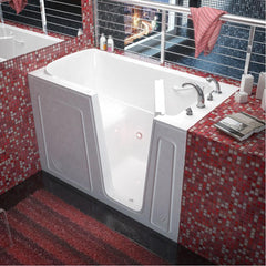 Meditub Walk-In Right Drain White Soaking Bathtub 3260RWS