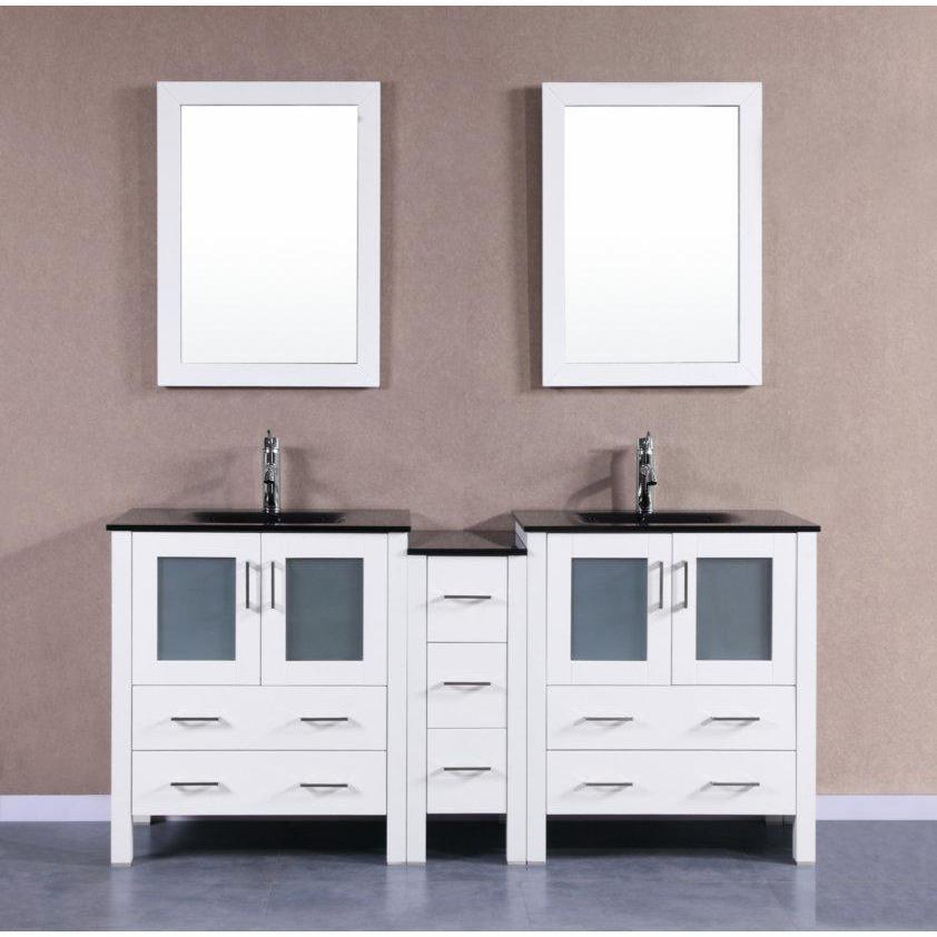 "Bosconi 72"" Double Vanity Bathroom Vanity AW230BGU1S"