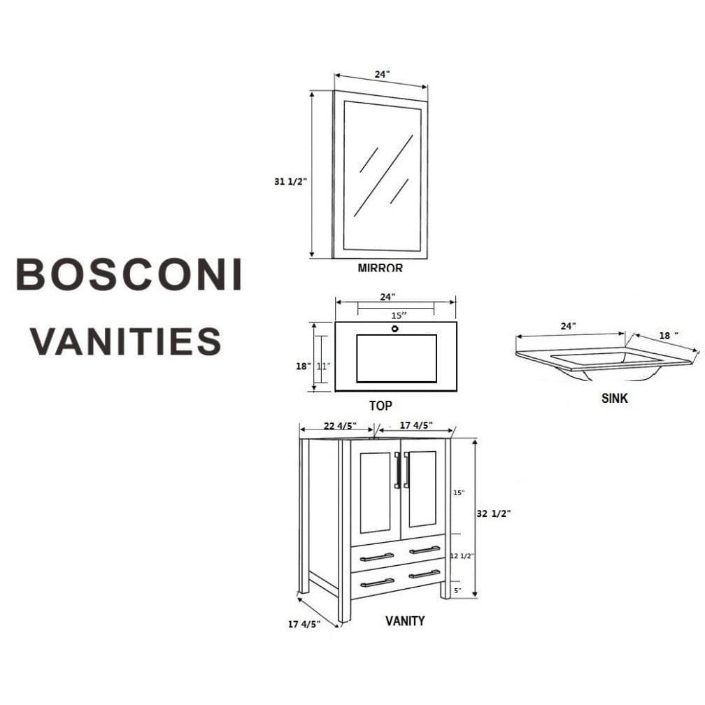 "Bosconi 48"" Double Vanity Bathroom Vanity AGR224EWGU"