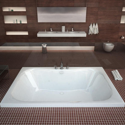 Atlantis Whirlpools Neptune 40 x 60 Rectangular Soaking Bathtub 4060N