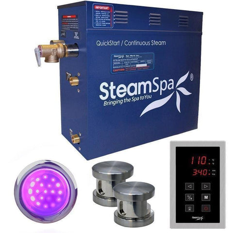 Steam Spa Steam Generators No SteamSpa QuickStart Indulgence 12 KW Acu-Steam Bath Generator INT1200BN