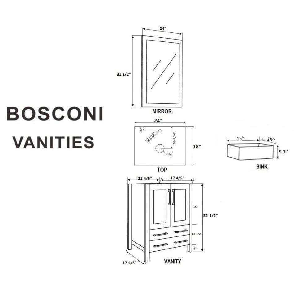 "Bosconi 48"" Double Vanity Bathroom Vanity AW224CBEBG"