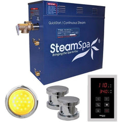 Steam Spa Steam Generators No SteamSpa QuickStart Indulgence 12 KW Acu-Steam Bath Generator INT1200CH