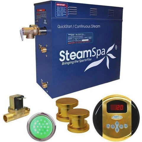 Steam Spa Steam Generators No SteamSpa QuickStart Indulgence 12 KW Acu-Steam Bath Generator IN1200GD