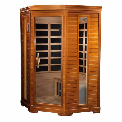 Golden Designs Infrared Saunas Golden Designs Dynamic Heming 2-Person Corner Low EMF FAR Infrared Sauna