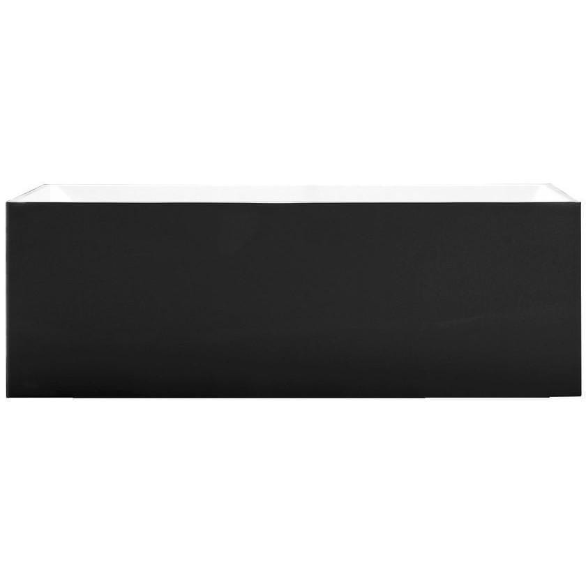 "MTD Vanities Long Beach 60"" Freestanding Bathtub In Black MTD-LONG-60B"