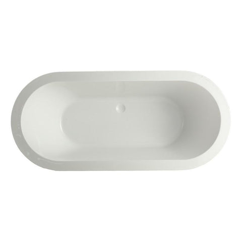 "MTD Vanities Venice 67"" Freestanding Bathtub In White MTD-VEN-67"