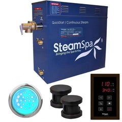 Steam Spa Steam Generators No SteamSpa QuickStart Indulgence 12 KW Acu-Steam Bath Generator INT1200OB