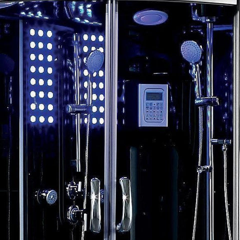 Maya Bath Siena-Black-Right Drain Computerized Steam Shower 115
