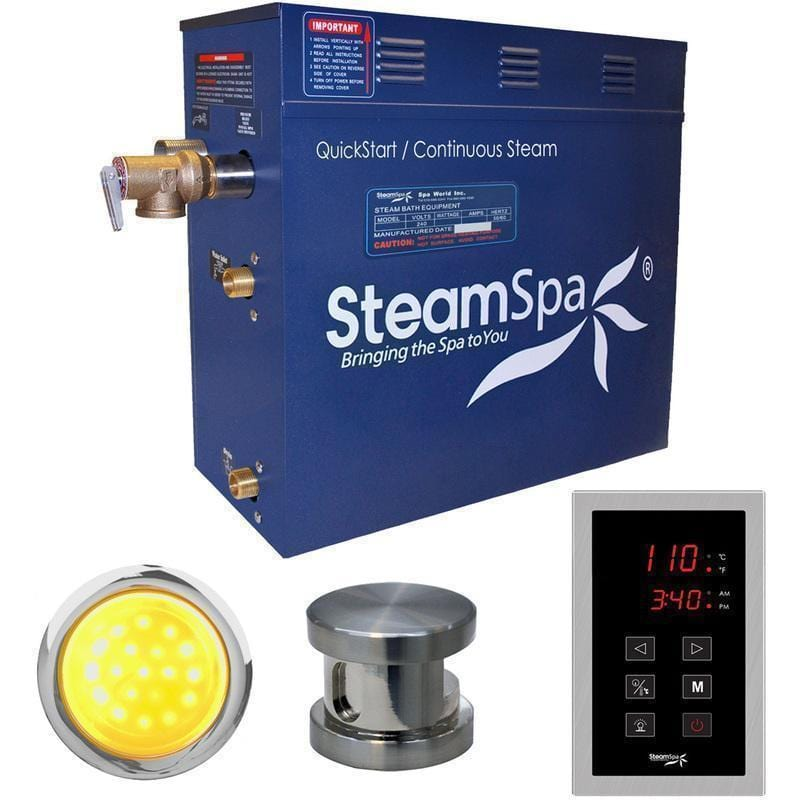 Steam Spa Steam Generators No SteamSpa QuickStart Indulgence 4.5 KW Acu-Steam Bath Generator INT450BN