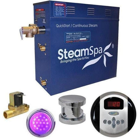 Steam Spa Steam Generators No SteamSpa QuickStart Indulgence 7.5 KW Acu-Steam Bath Generator IN750CH