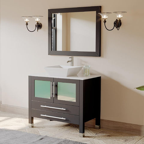 "Cambridge Plumbing 36"" Single Sink Bathroom Vanity Set 8111"