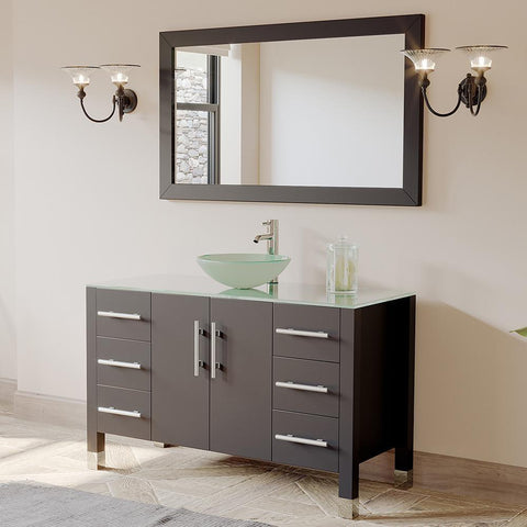 "Cambridge Plumbing 48"" Single Sink Bathroom Vanity Set 8116B"