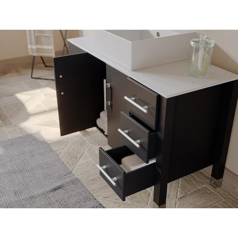 "Cambridge Plumbing 48"" Single Sink Bathroom Vanity Set 8116"