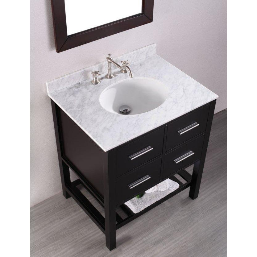 "Bosconi 30"" Single Vanity Bathroom Vanity SB-250-1"