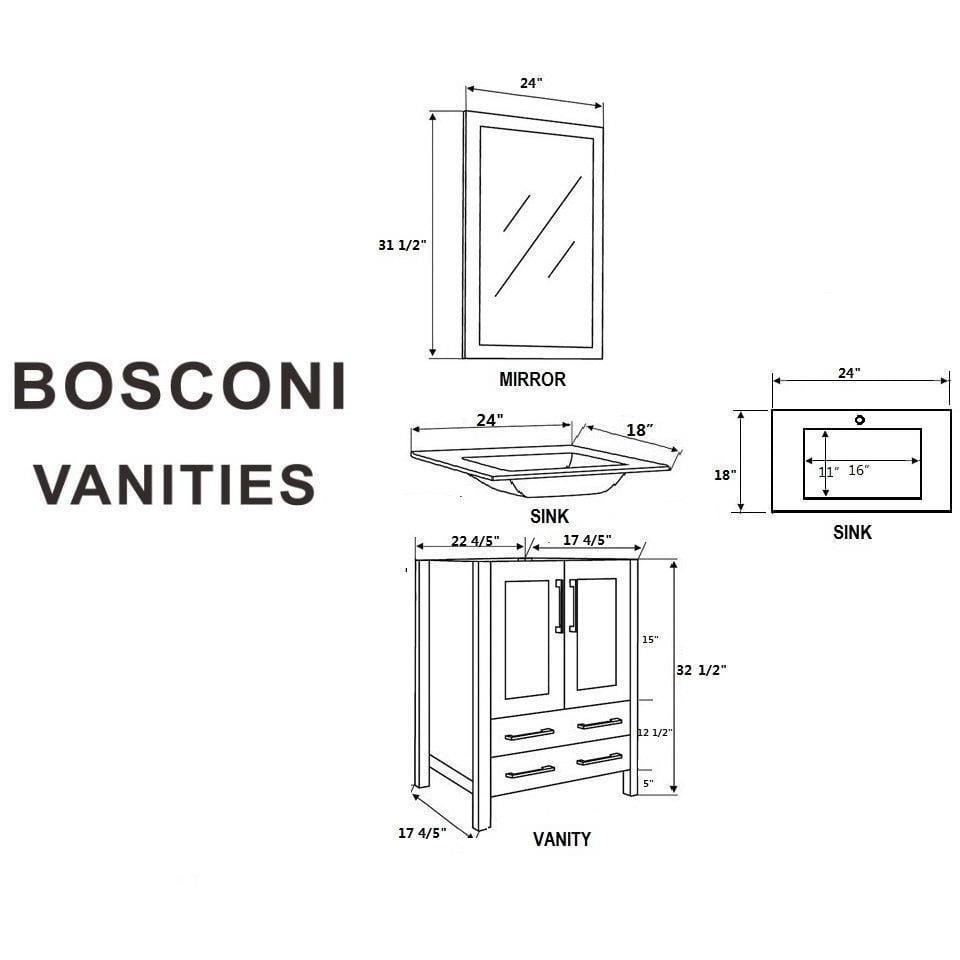 "Bosconi 48"" Double Vanity Bathroom Vanity AB224U"