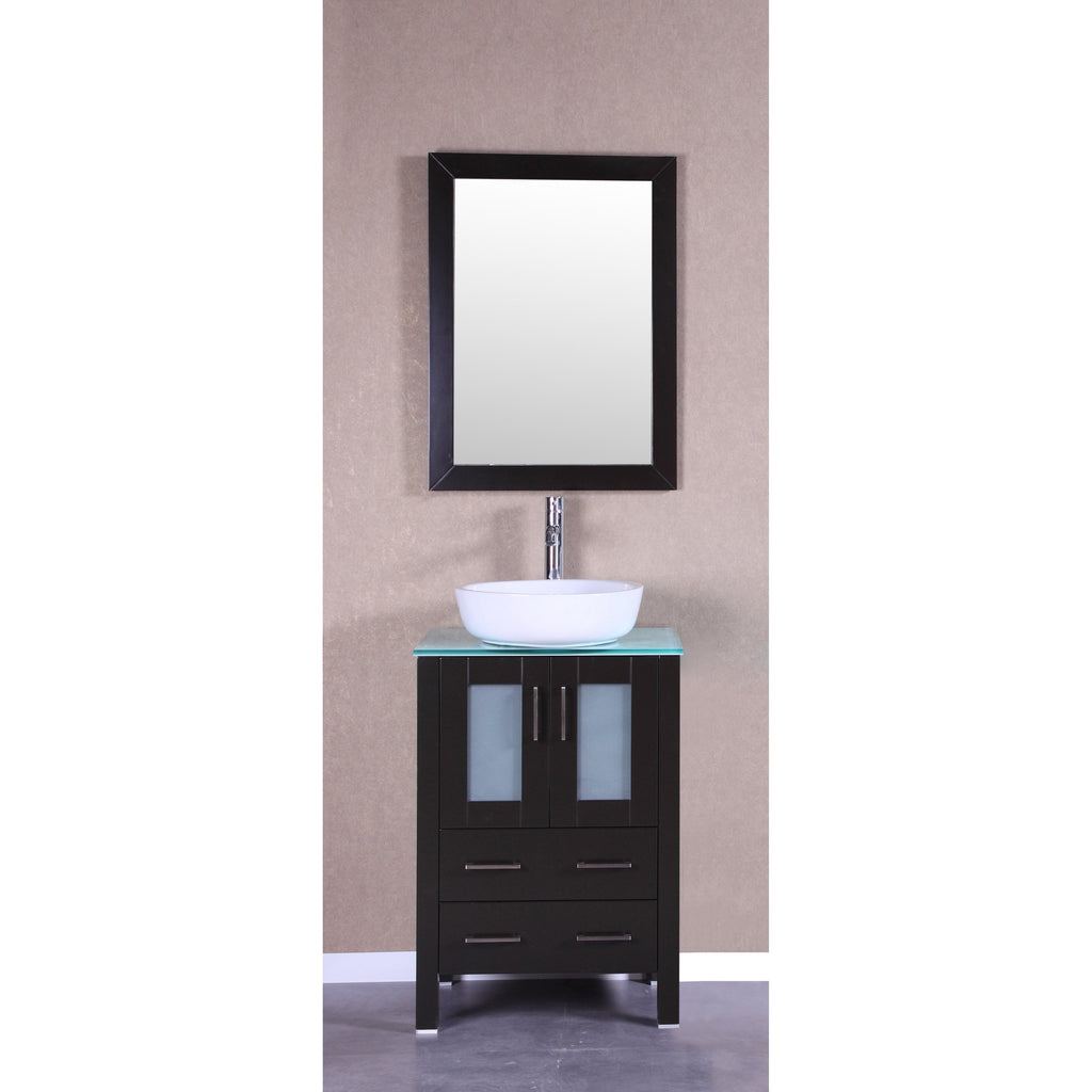 "Bosconi 24"" Single Vanity Bathroom Vanity AB124BWLCWG"