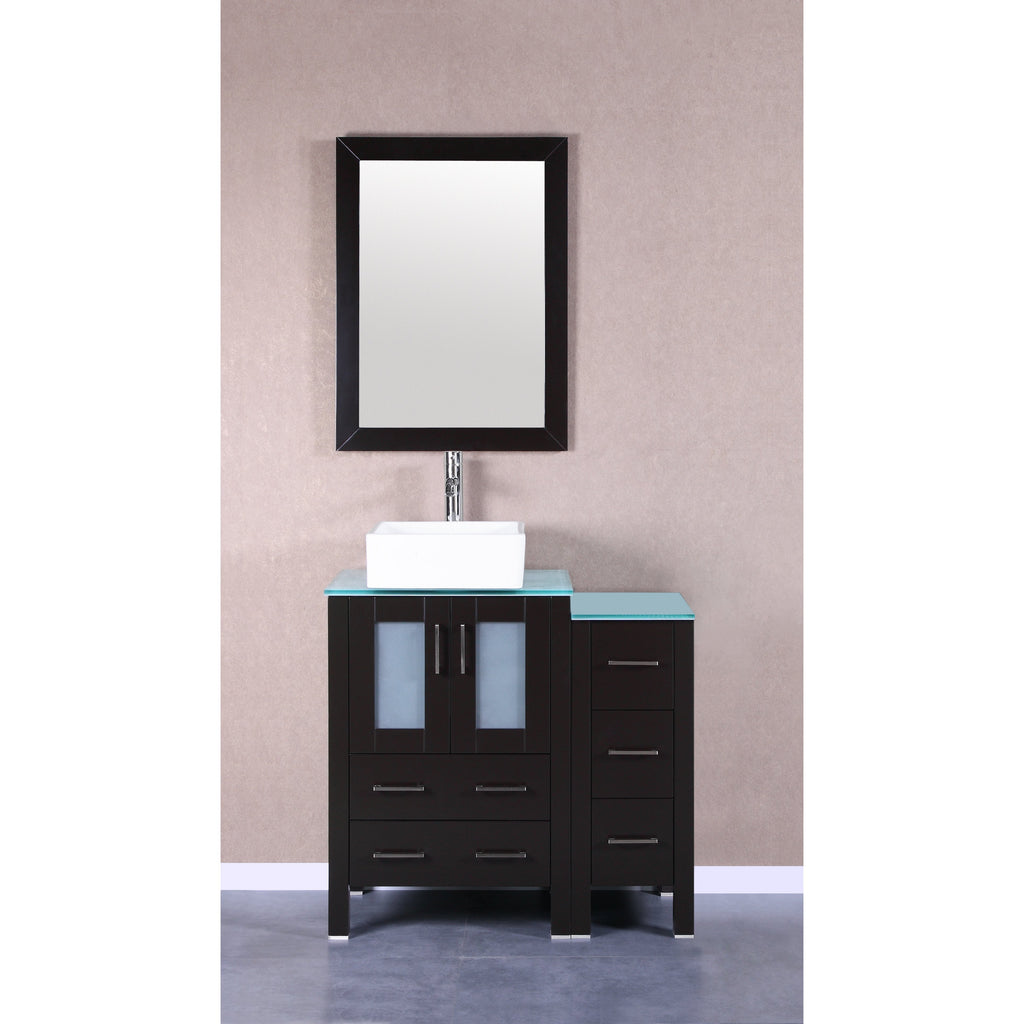 "Bosconi 36"" Single Vanity Bathroom Vanitie AB124CBECWG1S"