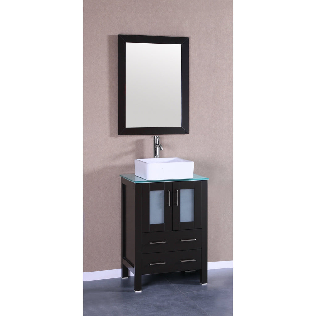 "Bosconi 24"" Single Vanity Bathroom Vanity AB124CBECWG"