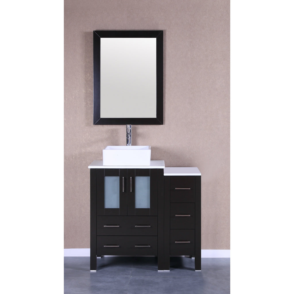 "Bosconi 36"" Single Vanity Bathroom Vanitie AB124CBEPS1S"