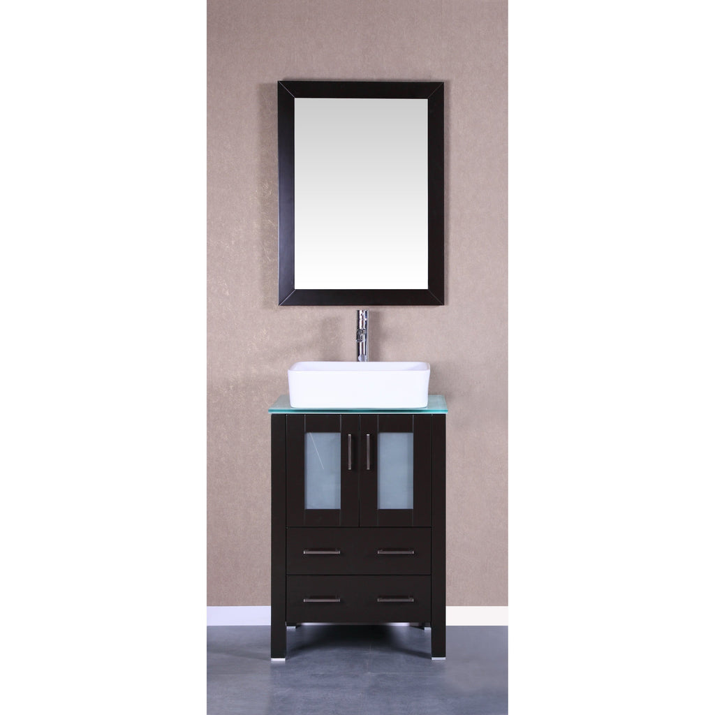 "Bosconi 24"" Single Vanity Bathroom Vanity AB124RCCWG"