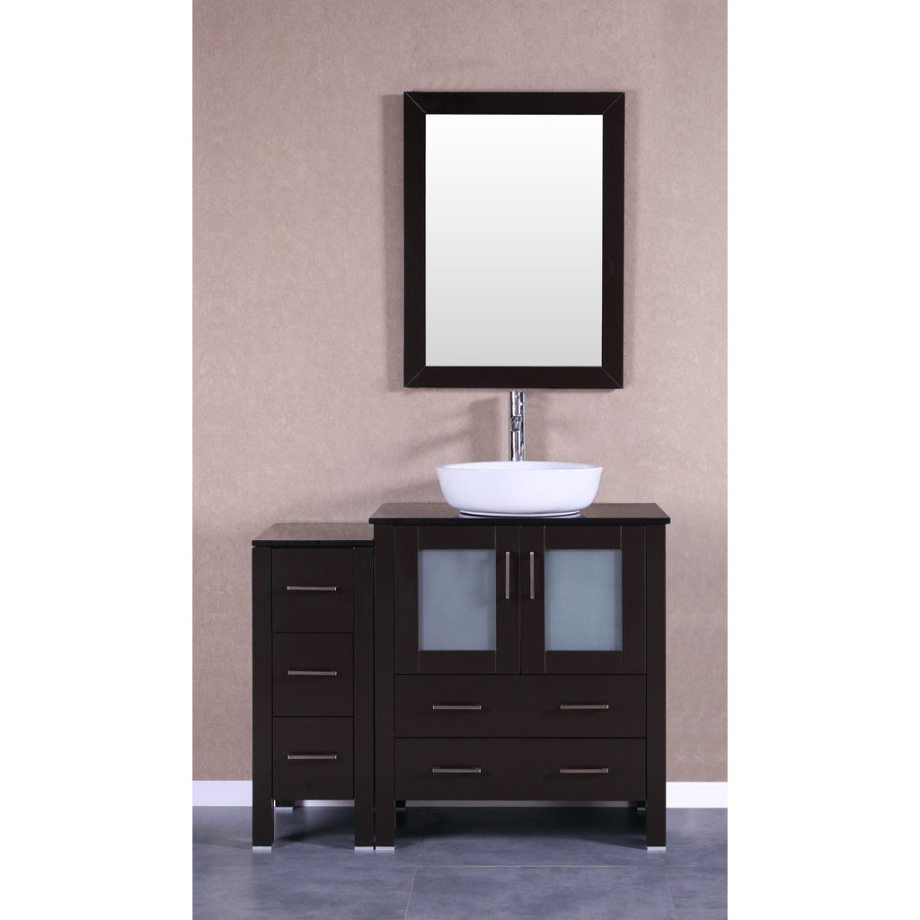 "Bosconi 42"" Single Vanity Bathroom Vanity AB130BWLBG1S"