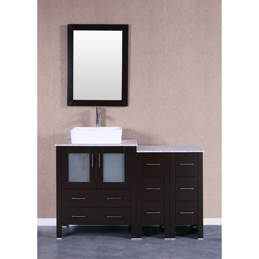 "Bosconi 54"" Single Vanity Bathroom Vanitie AB130RCCM2S"