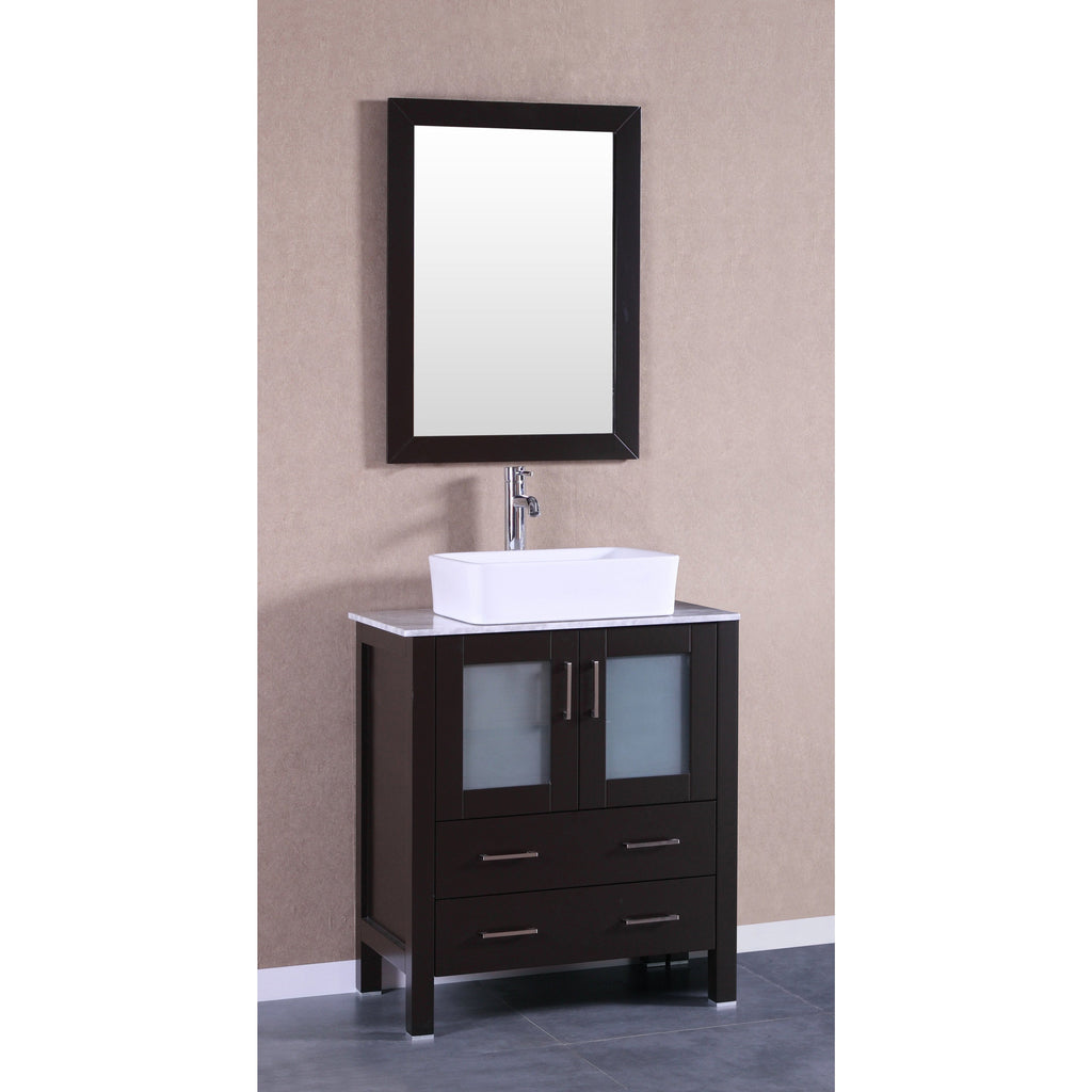 "Bosconi 30"" Single Vanity Bathroom Vanity AB130RCCM"
