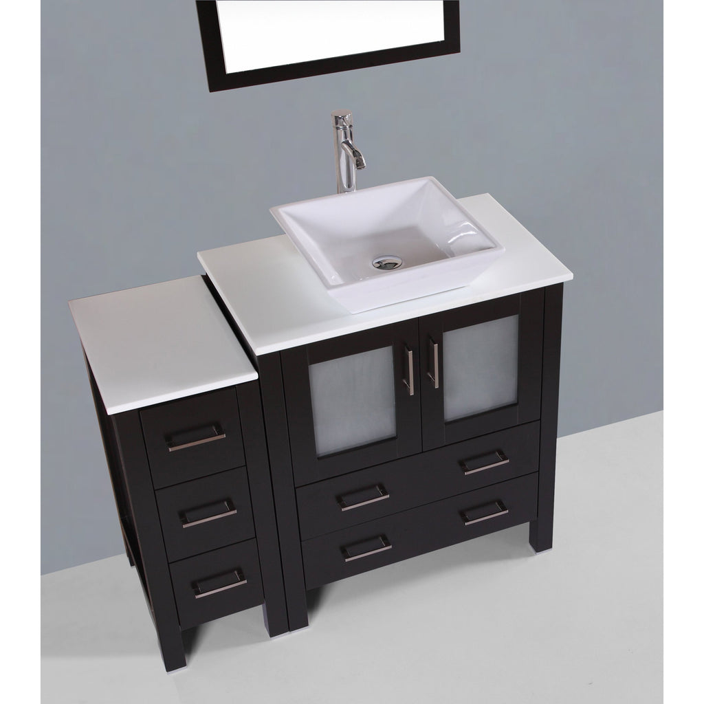 "Bosconi 42"" Single Vanity Bathroom Vanitie AB130S1S"