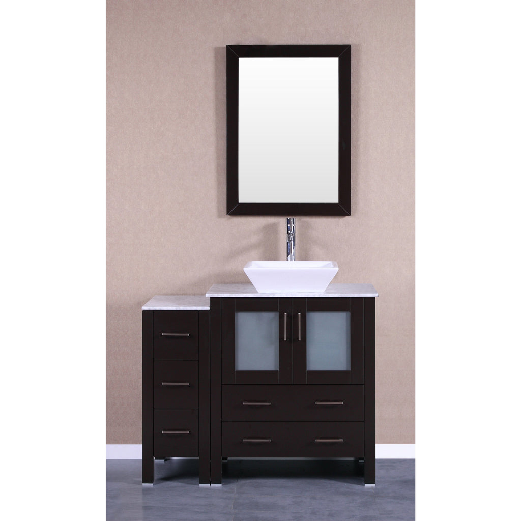 "Bosconi 42"" Single Vanity Bathroom Vanitie AB130SQCM1S"