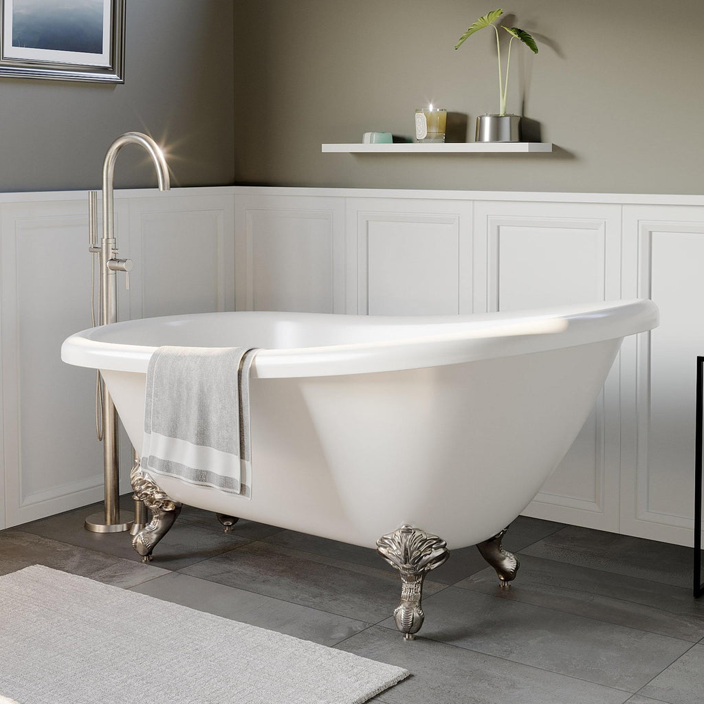 "Cambridge Plumbing Acrylic Slipper Bathtub 67"" X 28"" AST67-150"