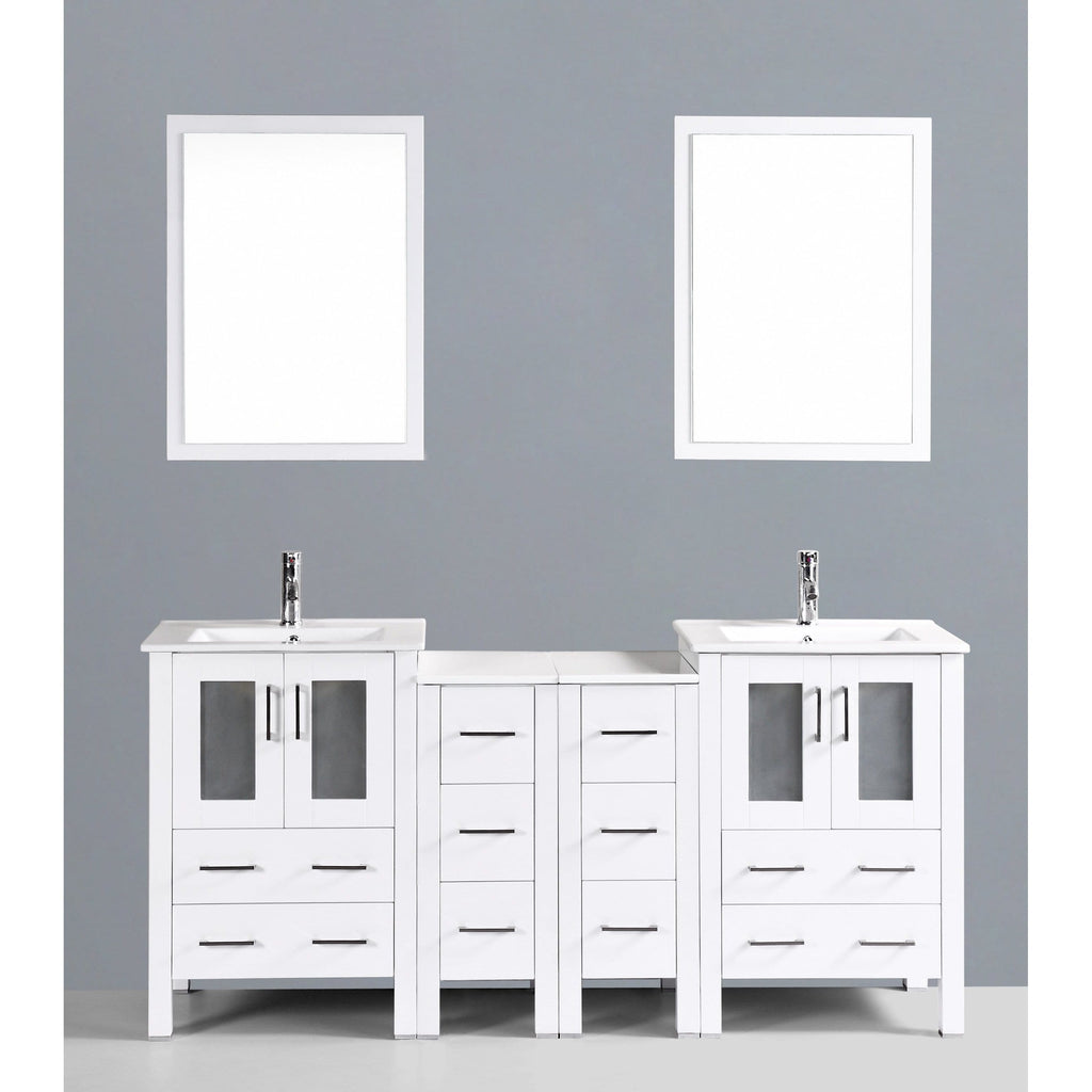 "Bosconi 72"" Double Vanity Bathroom Vanity AW224U2S"