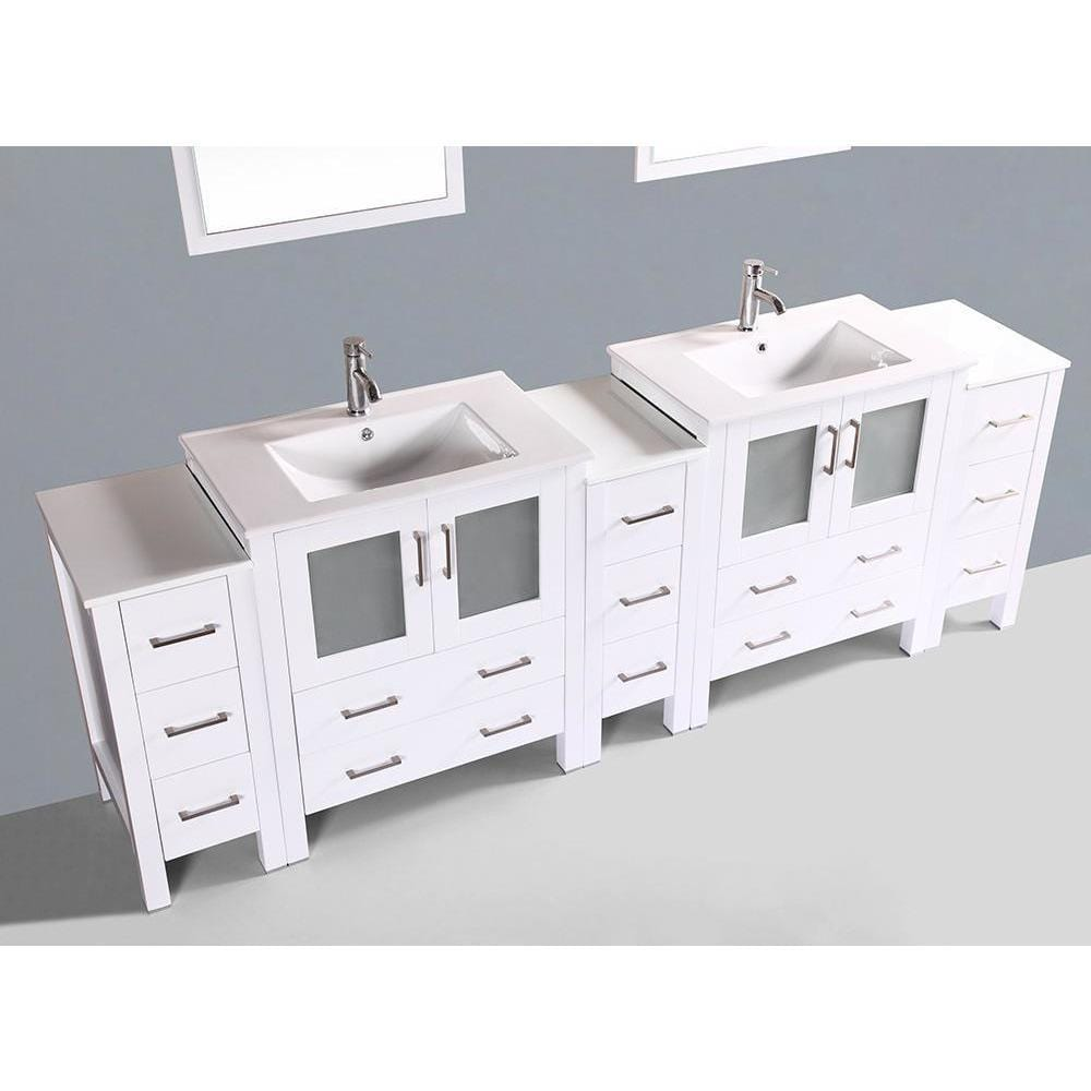 "Bosconi 96"" Double Vanity Bathroom Vanity AW230U3S"