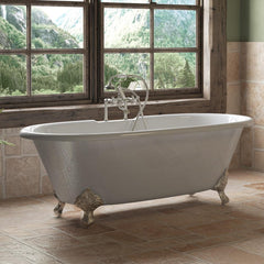 Cambridge Plumbing Cast Iron Double Ended Clawfoot Bathtub 67