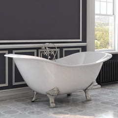 Cambridge Plumbing Cast Iron Double Ended Slipper Bathtub 71