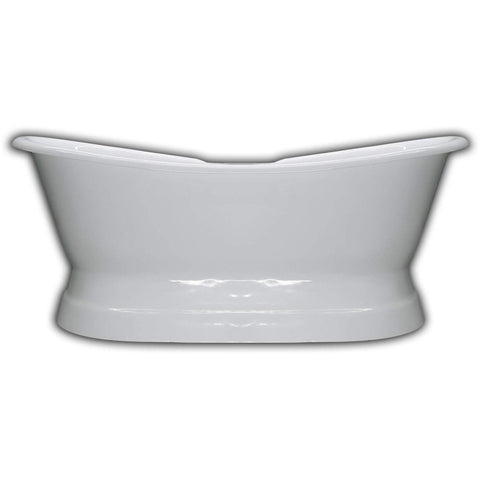"Cambridge Plumbing Cast Iron Double Ended Pedestal Slipper Bathtub 71"" X 30"" DES-PED"