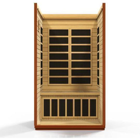 Golden Designs Infrared Saunas Golden Designs Dynamic San Marino 2-Person Low EMF FAR Infrared Sauna
