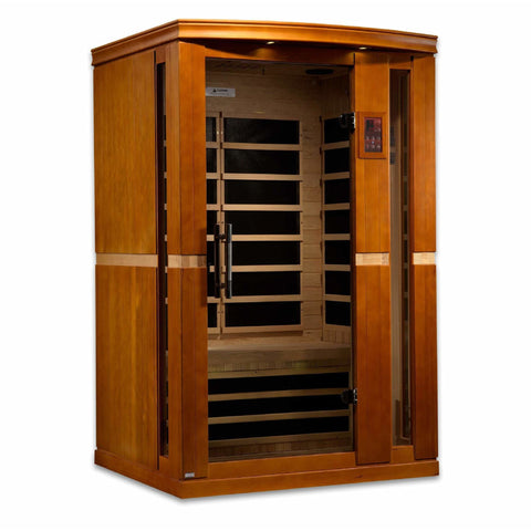 Golden Designs Infrared Saunas Golden Designs Dynamic Vittoria 2-Person Low EMF FAR Infrared Sauna
